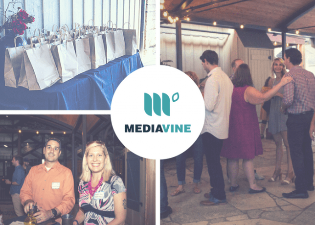A collage of various Mediavine event attendees.