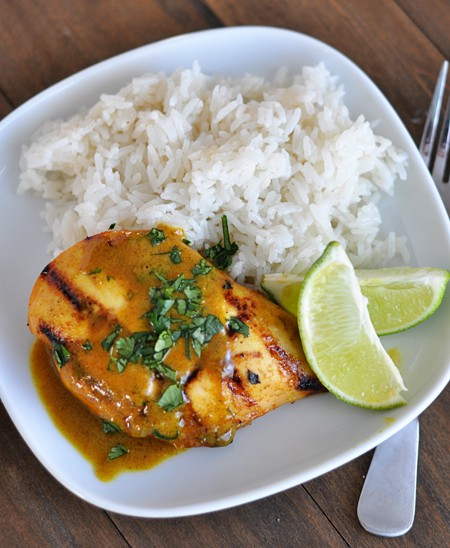Grilled Lime Coconut Chicken