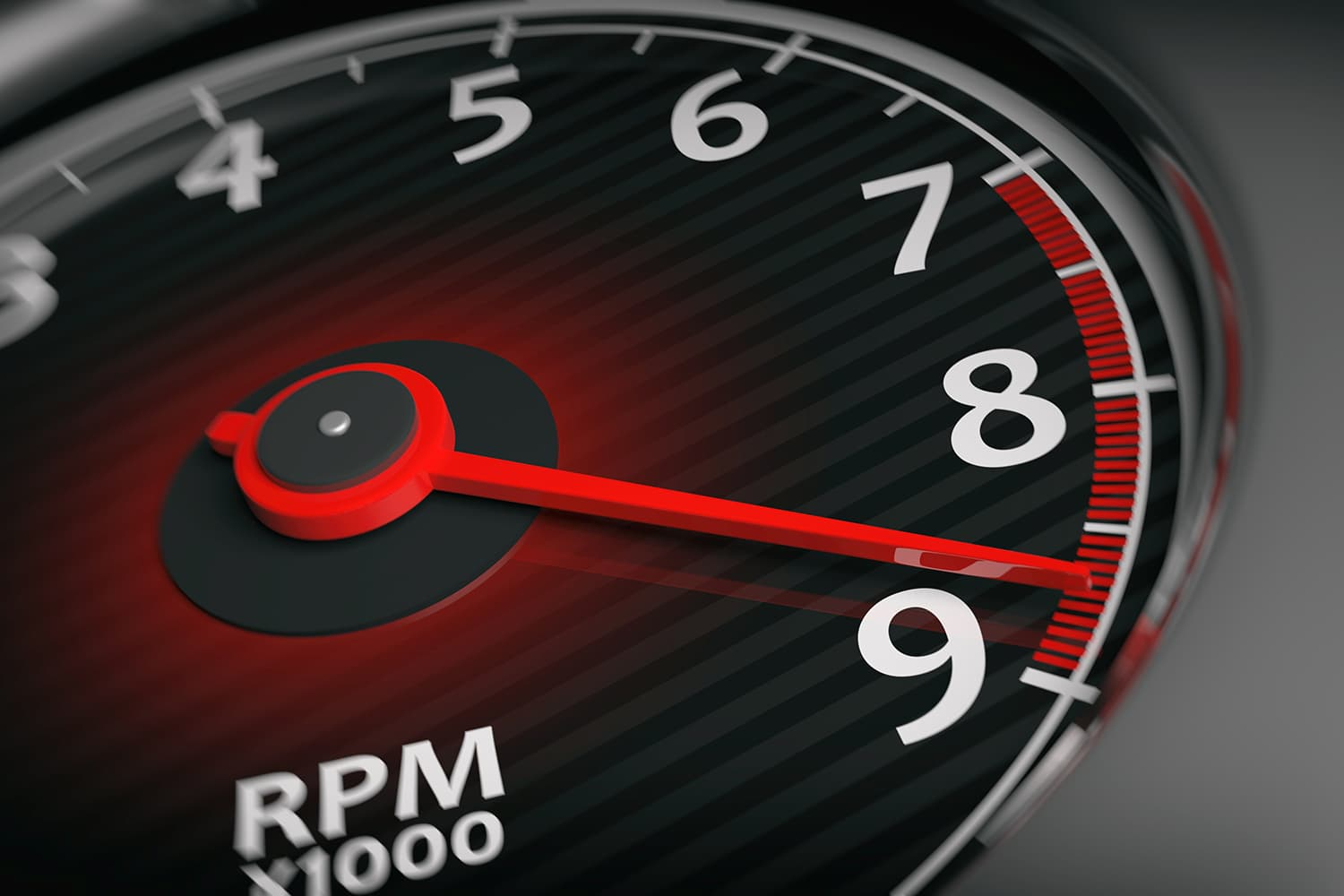 An RPM meter on max.