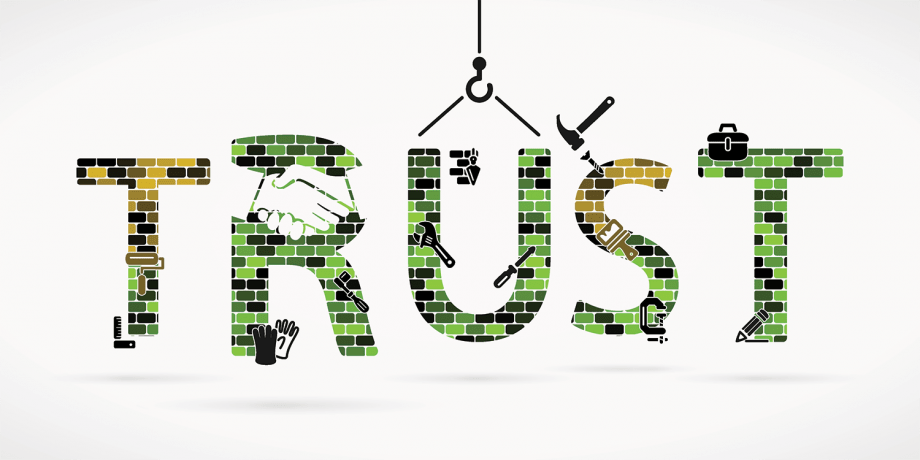 """A word art image of the word """"Trust""""."""