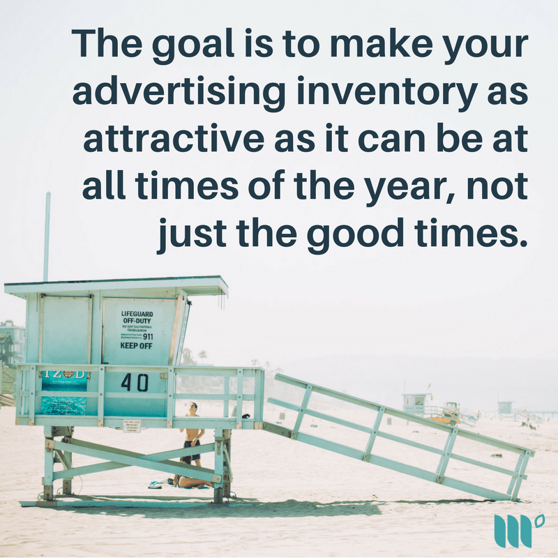 The goal is to make your advertising inventory as attractive as it can be at all times of the year, not just the good times.