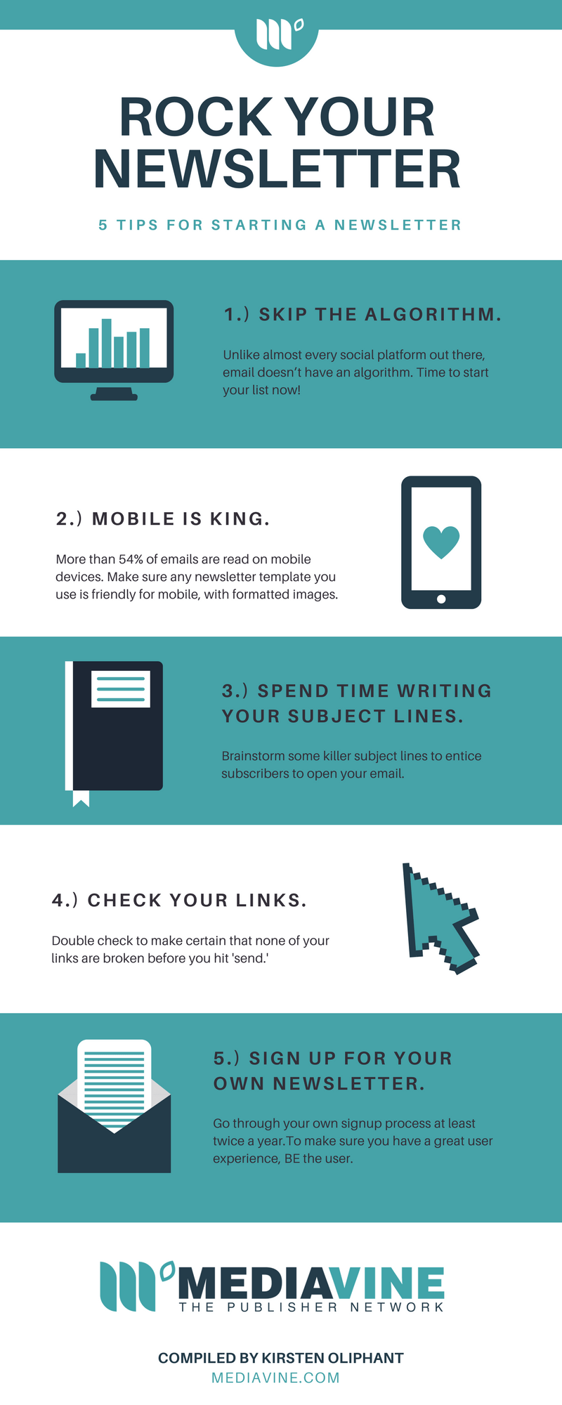 Tips for Starting a Newsletter Infographic Mediavine