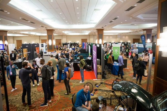 The show room at FinCon Dallas 2017.