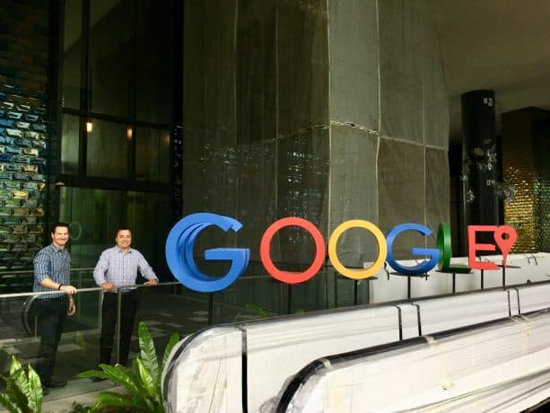Eric Hochberger (left) Brad Hagmann (right) at Google Headquarters.