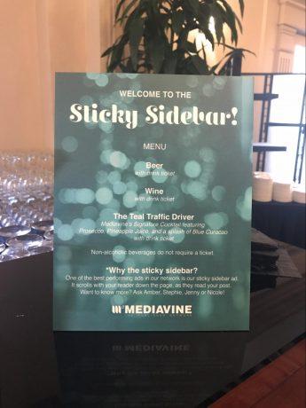 The Sticky Sidebar menu.
