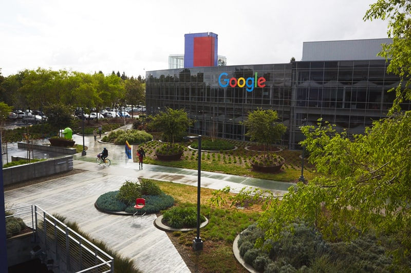 Google's Mountain View, CA campus.