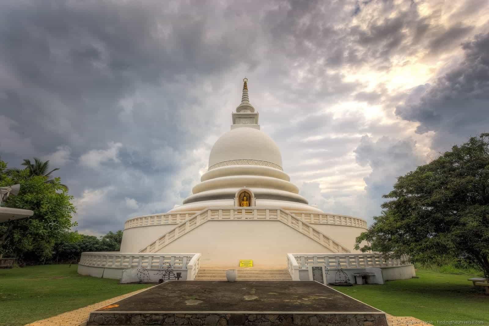 The Japanese Peace Pagoda in Mirissa, Sri Lanka.