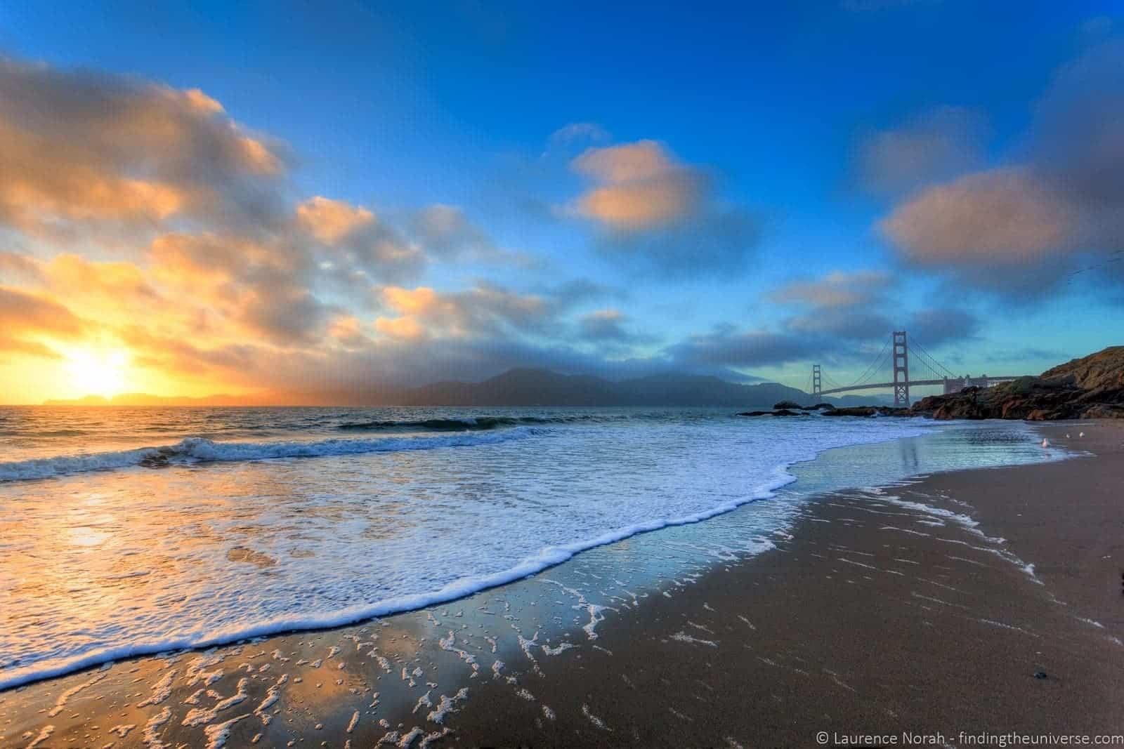 Baker's Beach in San Francisco, California.