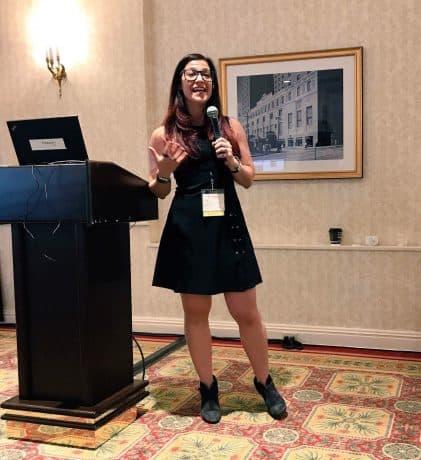Jamie Lieberman speaking at the Mediavine conference.