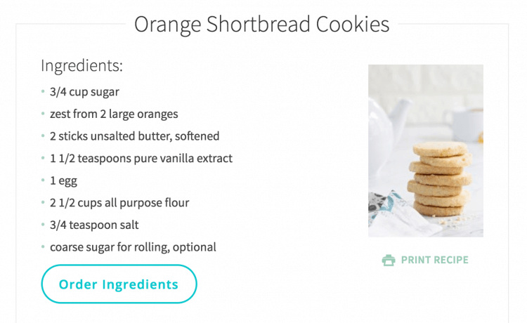 A third-party unit in action on a recipe for Orange Shortbread cookies