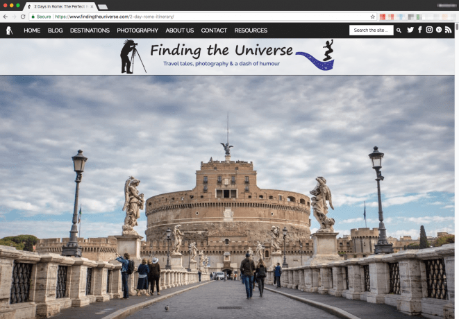 Finding the Universe homepage