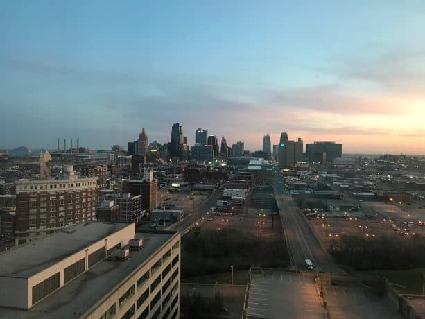 A view of the Kansas City skyline.