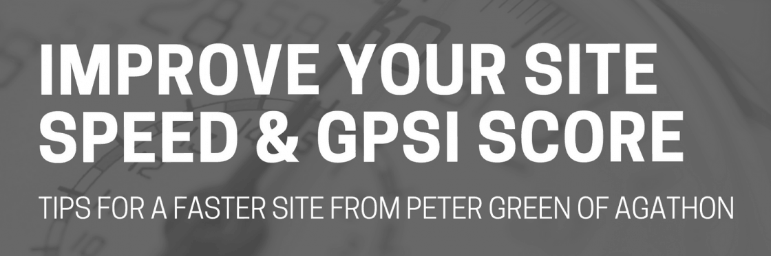 improve your site speed and gpsi score