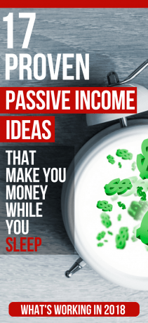 17 proven passive income ideas that make you money while you sleep - Pinterest image