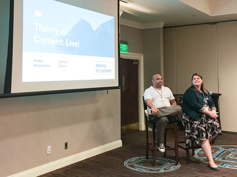 Theory of Content Live begins with Joshua Unseth and Mediavine cofounder Amber Bracegirdle.