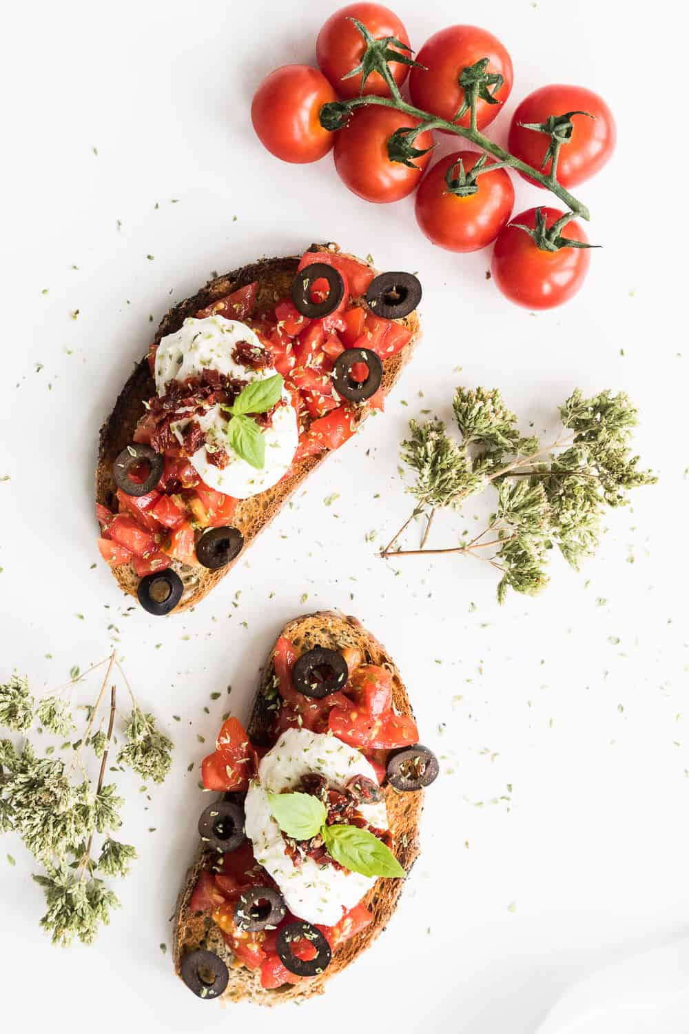 Gathering Dreams Bruschetta with Mozzarella