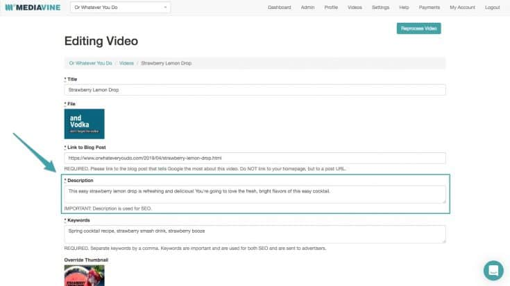 Mediavine Video Player Dashboard Settings