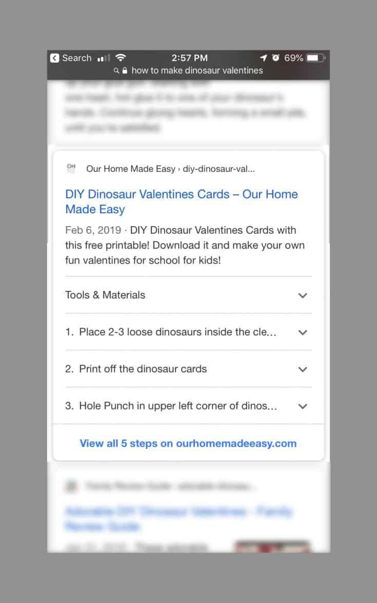 DIY Dinosaur Valentines Cards