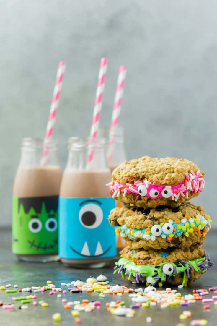 Monster Cookie sandwiches from Play Party Plan