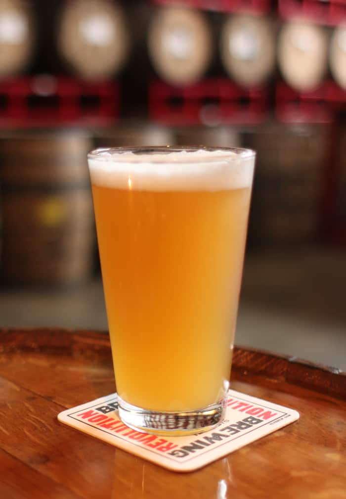 A glass of beer from Revolution Brewing