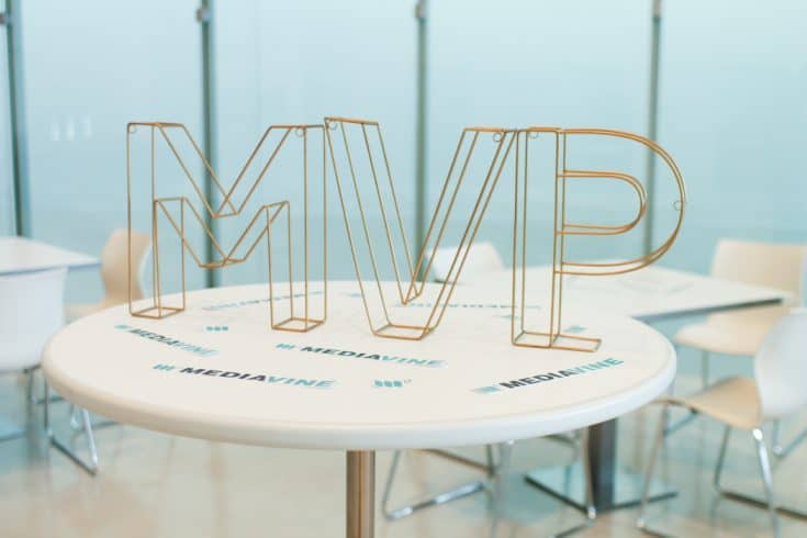 "Wire letters reading ""MVP"""