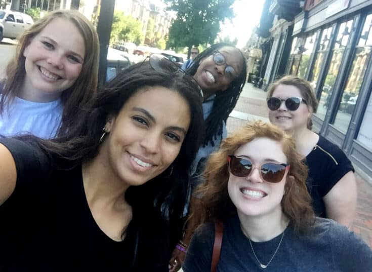 Members of the Mediavine team snag a quick selfie.