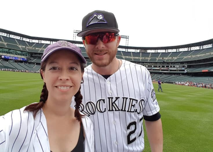 Cynthia visiting Coors Field.