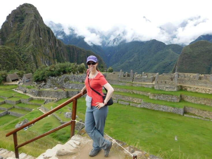 Cynthia visiting Machu Picchu.