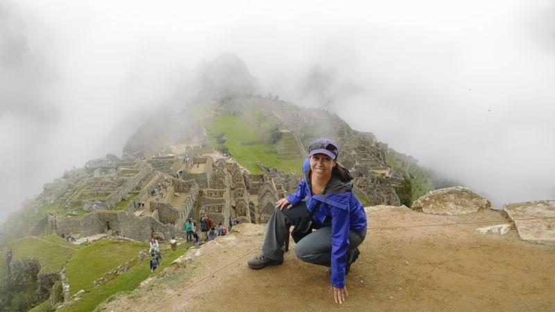 Cynthia Butler posing at Maccu Piccu