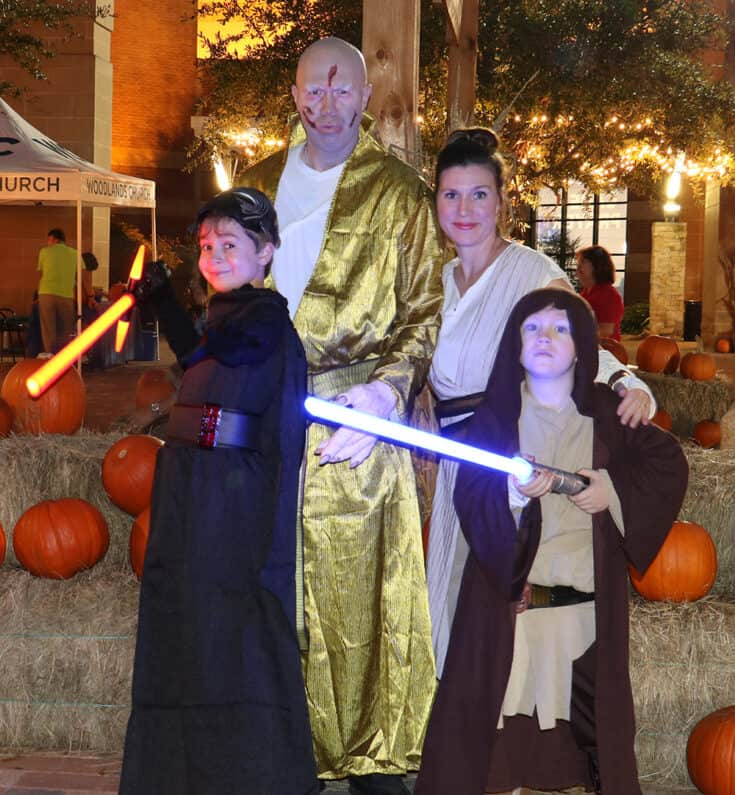 Brandon Gaille and family, dressed for Halloween as various Star Wars characters.