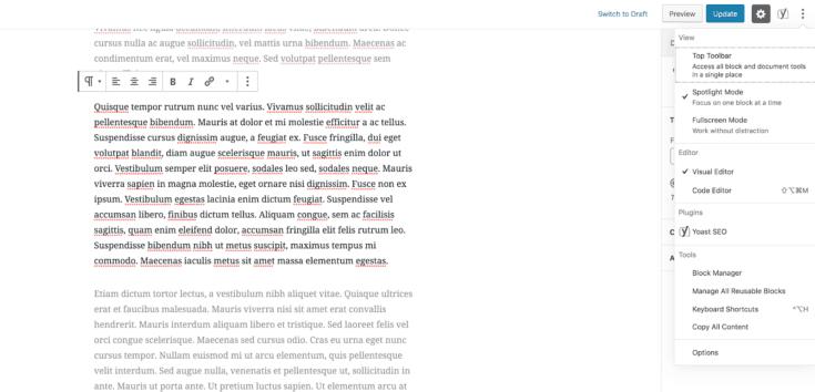 Screen capture of Spotlight mode.