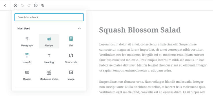 A screen capture of the Create tool bar.