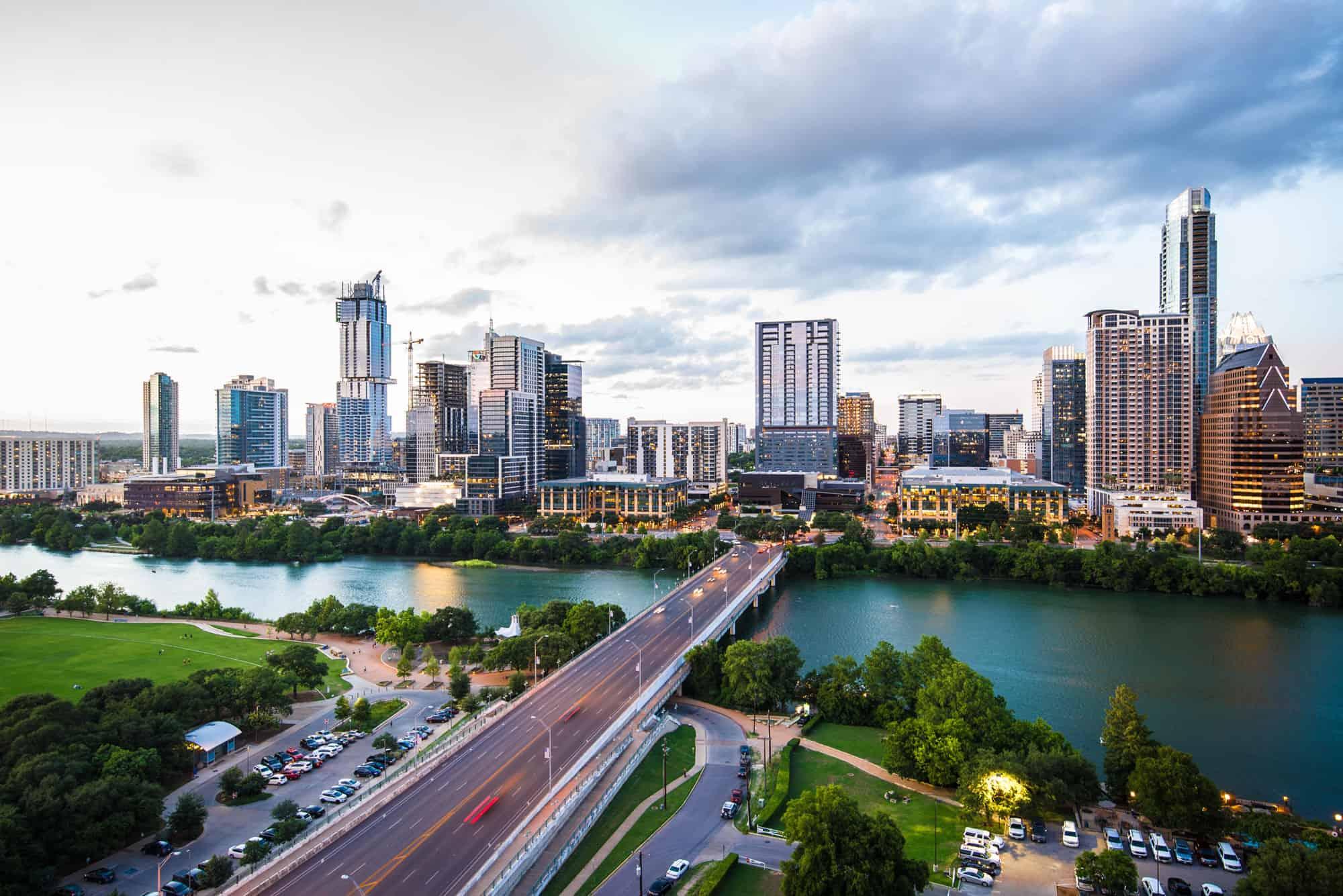 The Austin city skyline.