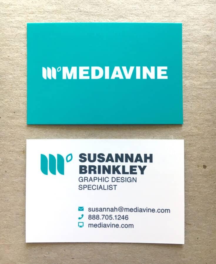 Mediavine business cards for Susannah Brinkley.