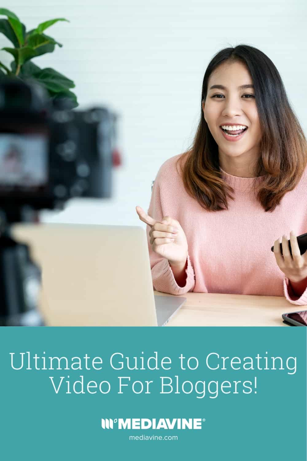 Mediavine Pinterest image - Ultimate Guide to Creating Video For Bloggers!