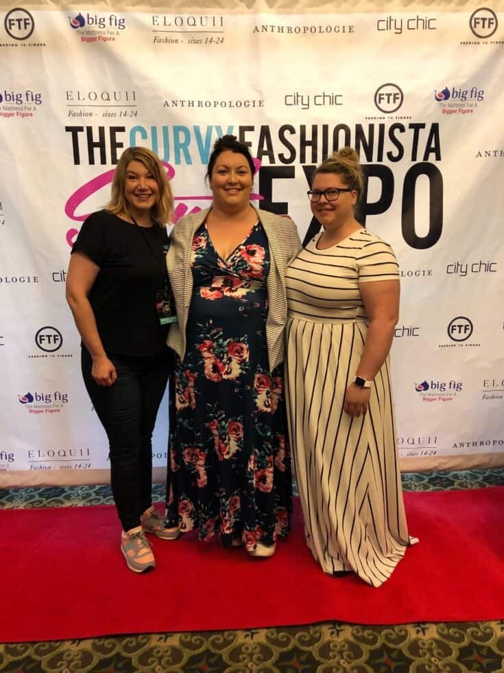 Mediavine team members at the Curvy Fashionista Style Expo.