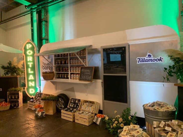 Tillamook display at Tastemaker.