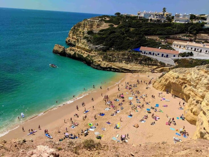 A sunny day at the beach in Portugal.