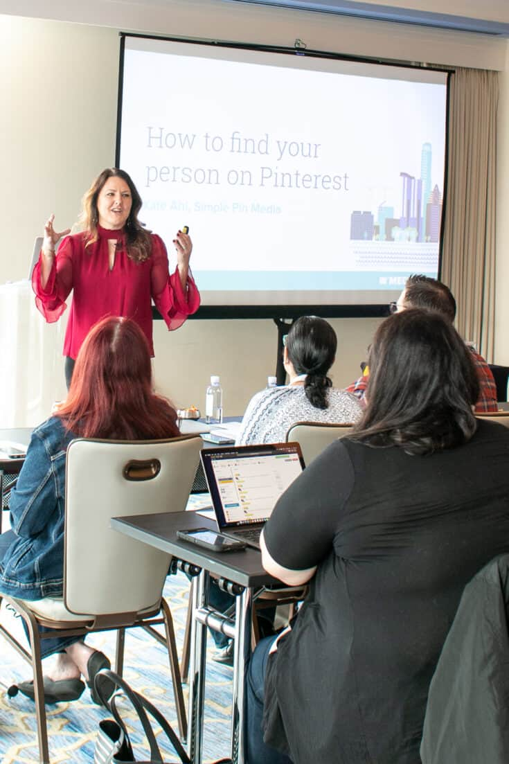 How to find your person on Pinterest presentation at MVCon 2019