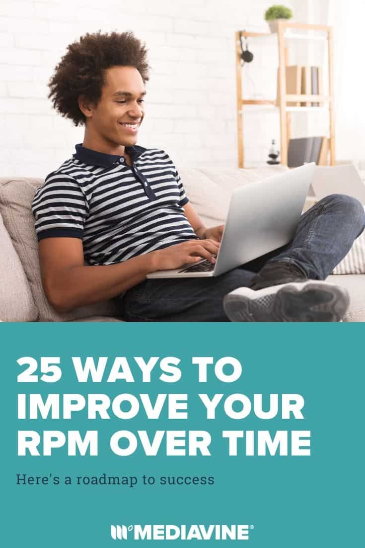 25 ways to improve your RPM over time - Mediavine Pinterest Image