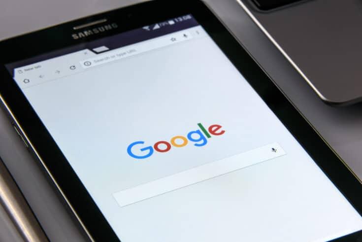 Google home screen on Samsung smartphone