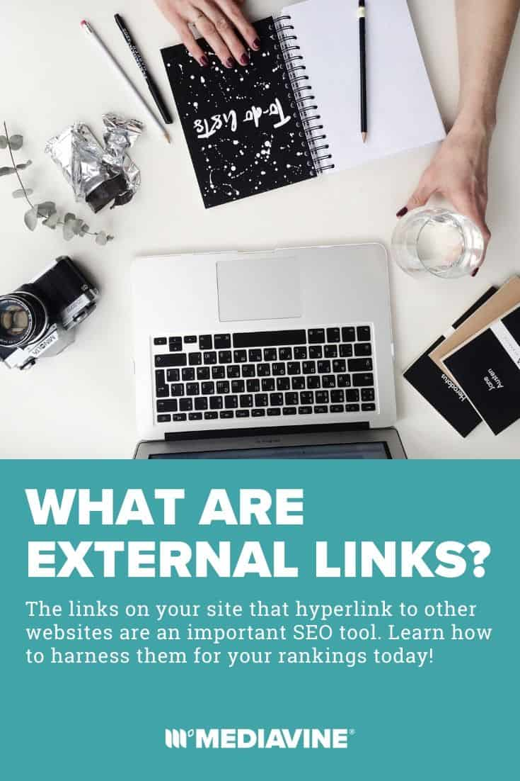 What are external links? The links on your site that hyperlink to other websites are an important SEO tool. Learn how to harness them for your rankings today! - Mediavine Pinterest image