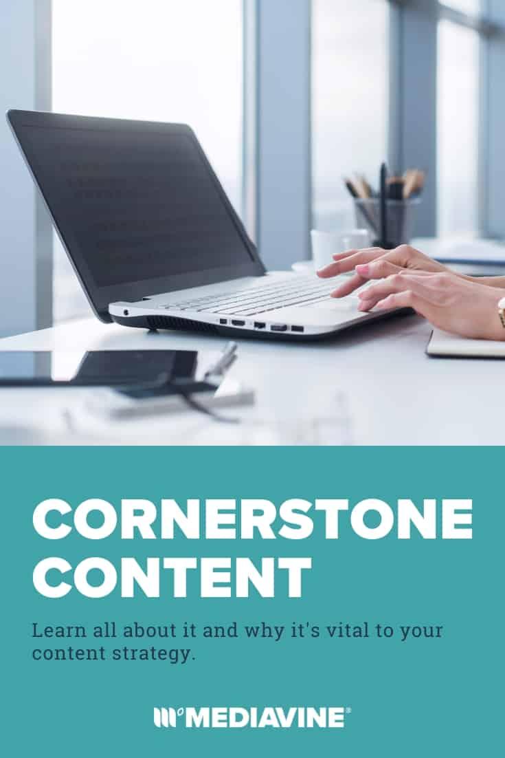 Cornerstone Content Pinterest image.