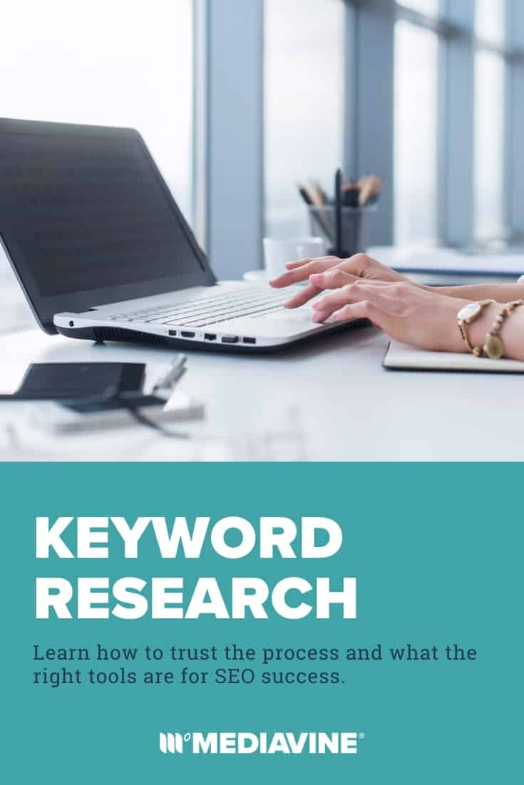 Keyword research - Learn how to trust the process and what the right tools are for SEO success. (Pinterest images)