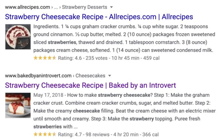 Strawberry Cheesecake Recipe Search Results