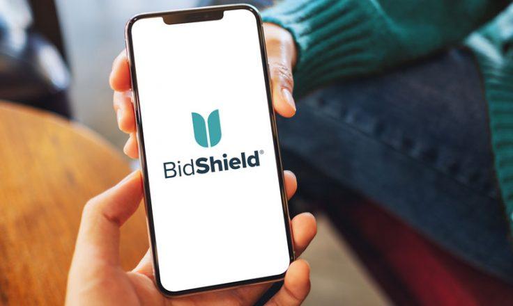 bidshield logo on phone
