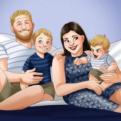 Amber cartoon family