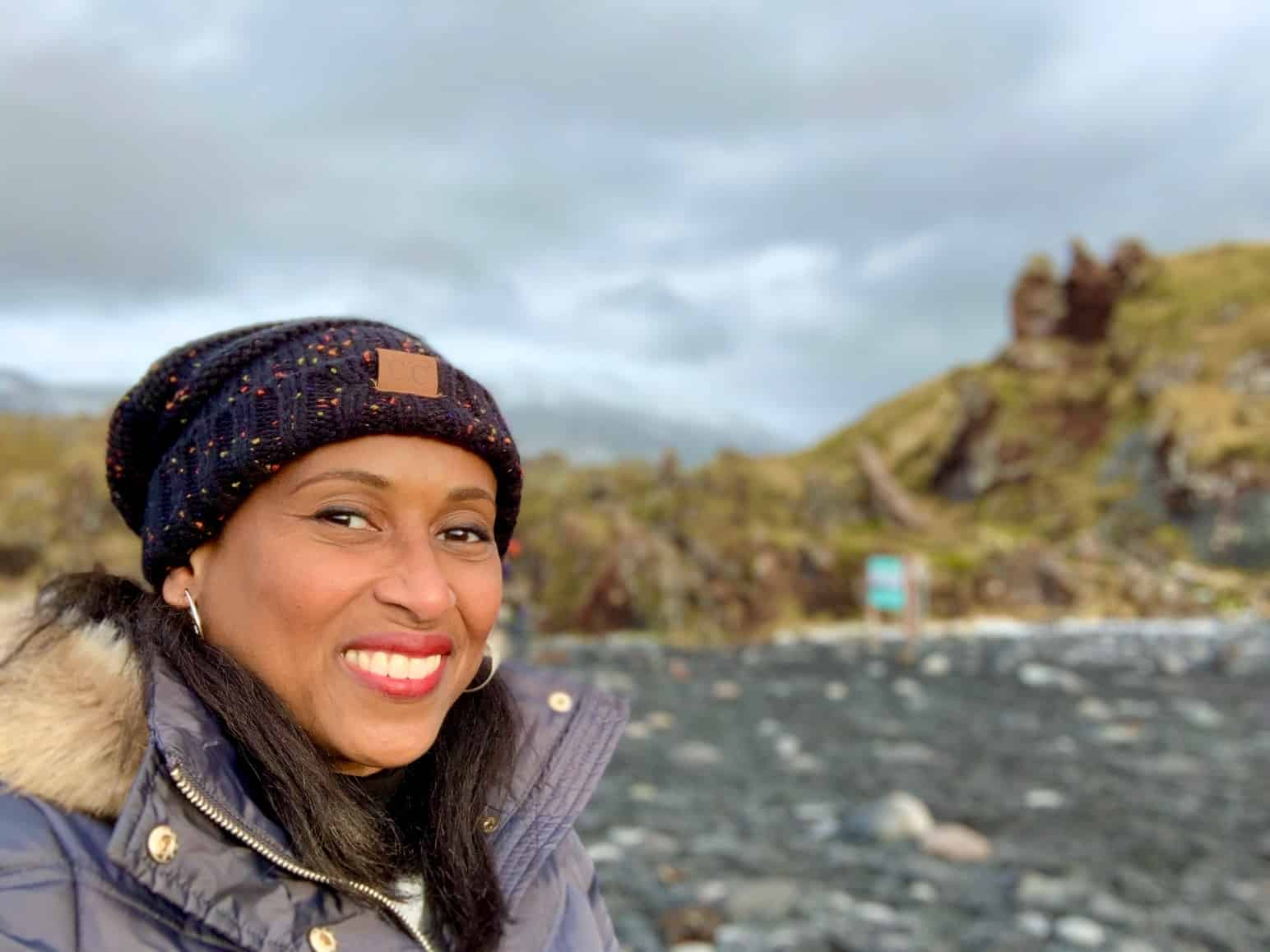 Nadeen White of The Sophisticated Life in Iceland