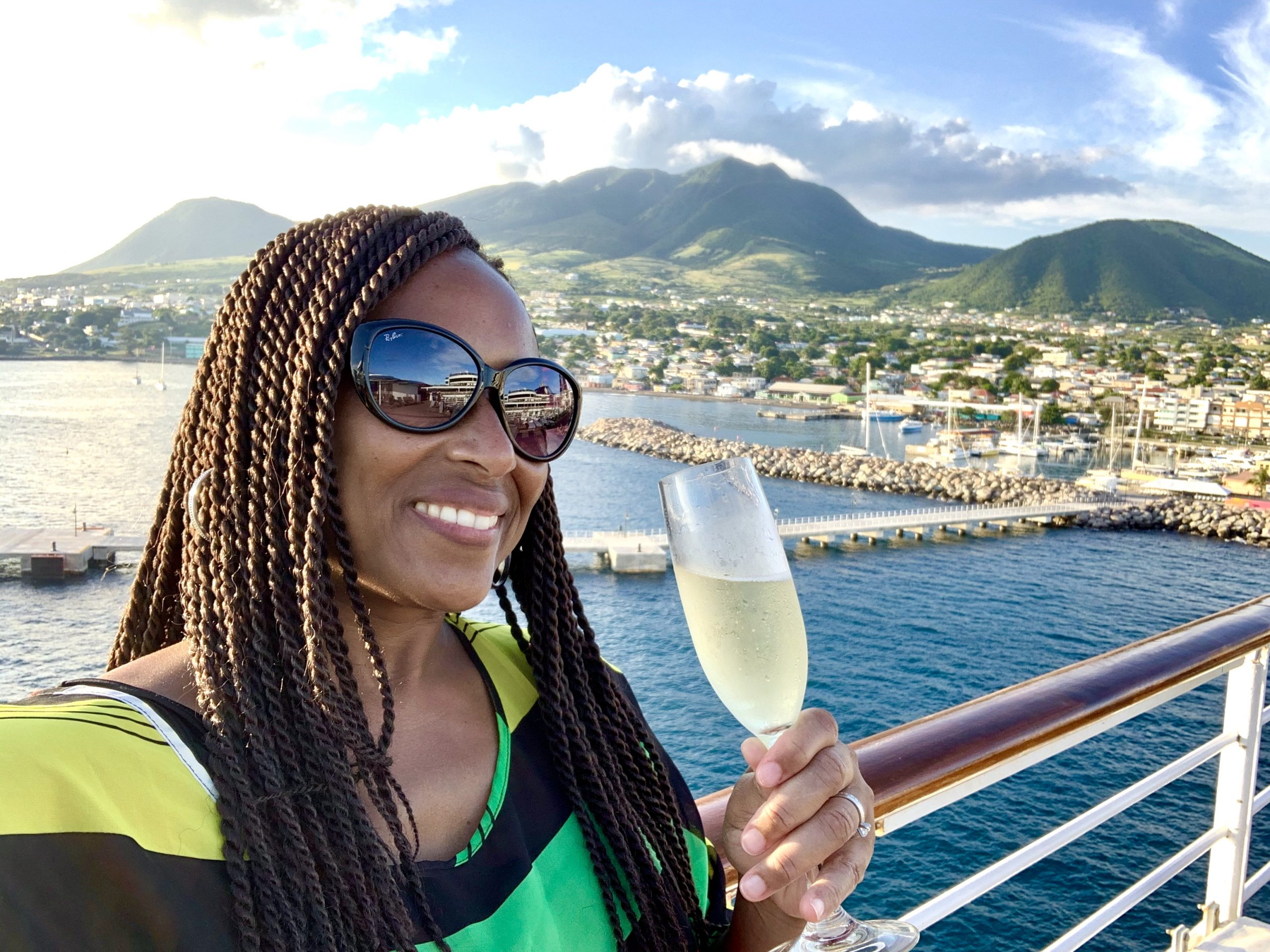Nadeen White from The Sophisticated Life on a cruise