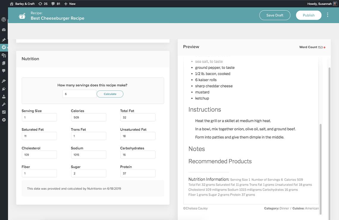 automatic nutrition screenshot
